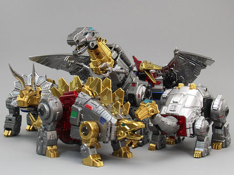 Zeta (ToyWorld) - Metallic Dino Combiner Set of 5