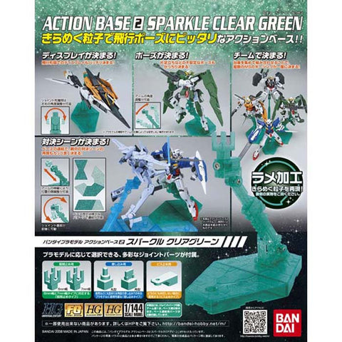 Action Base 2 - Sparkle Clear Green