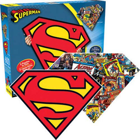Puzzle - 600 DC Comics Superman 2 in 1