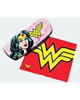 Spoontiques - Wonder Woman Eyeglasses Case w/ Cleaning Cloth