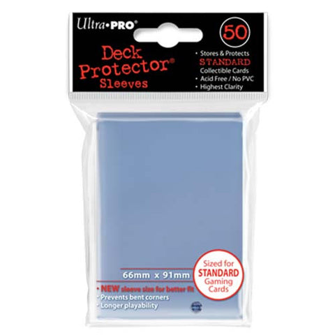 Ultra PRO - Solid Clear Deck Protectors - 50 Sleeves