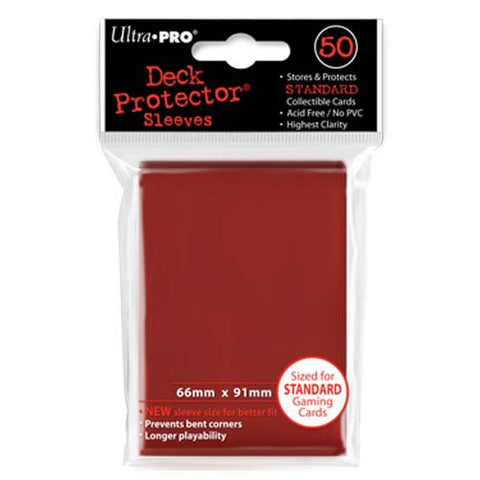 Ultra PRO - Solid Red Deck Protectors - 50 Sleeves