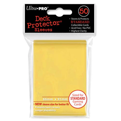 Ultra PRO - Solid Yellow Deck Protectors - 50 Sleeves