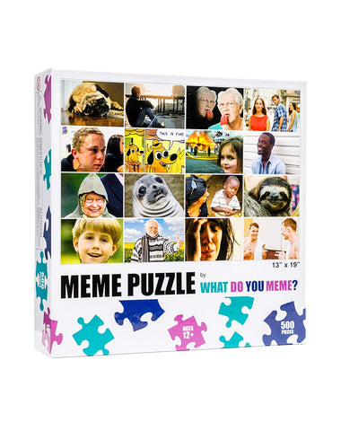 WDYM - What Do You Meme: Meme Puzzle - Grid 500 Piece Jigsaw Puzzle