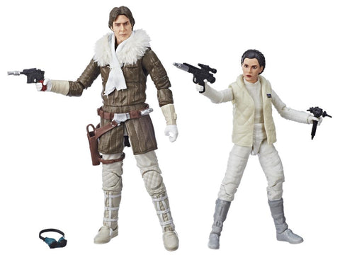 Star Wars the Black Series - Han Solo & Leia Organa (Empire Strikes Back) Exclusive Two-Pack