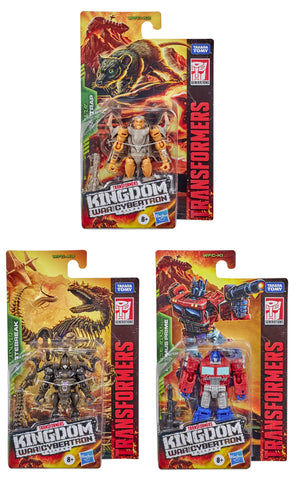 Transformers War for Cybertron: Kingdom - Core Wave 1 Set of 3 Figures