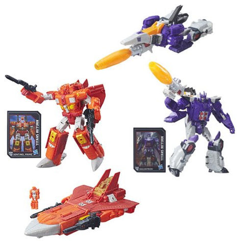 Transformers Generations Titans Return - Voyager Class Galvatron & Sentinel Prime Set of 2