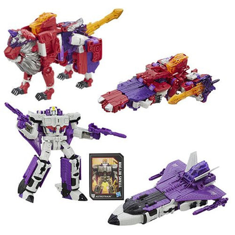 Transformers Generations Titans Return - Voyager Class Alpha Trion & Astrotrain Set of 2