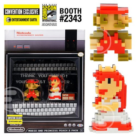 Jakks Pacific - Super Mario and Princess Peach 8-Bit Mini-Figures SDCC Exclusive