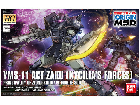 High Grade The Origin 1/144 - Act Zaku (Kycilia's Forces)