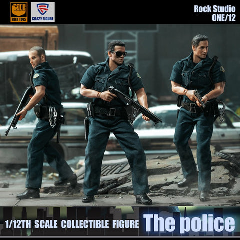 Crazy Figure X Rock Toys - 1/12 City Police - Set of 3 (Deposit Required)