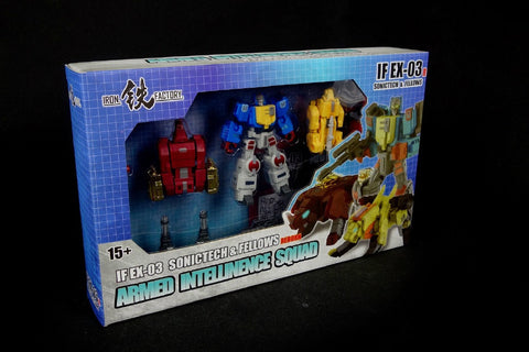 Iron Factory - IF-EX03R - Sonictech,Bassrhino,Leotrible - Blue Version (Set of 3)