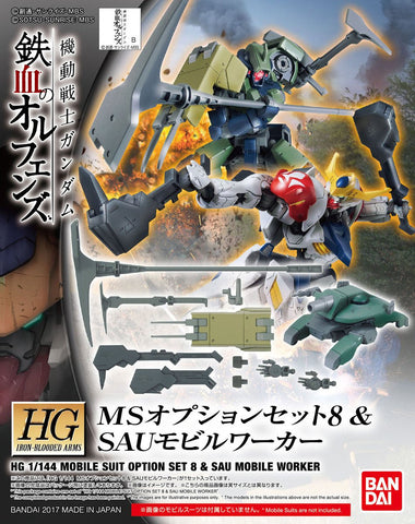 Iron-Blooded Orphans 1/144 - Option Set 8 & Sau Mobile Worker