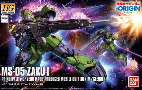 High Grade The Origin 1/144 - 009 MS-05 Zaku I