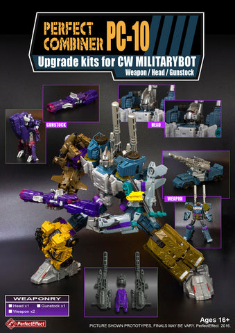 Perfect Effect - PC-10 Perfect Combiner Upgrade Set for Combiner Wars Bruticus & Shockwave