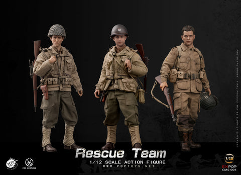POP Toys - WWII US Rescue Squad Team 1/12 Set of 3 (Deposit Required)