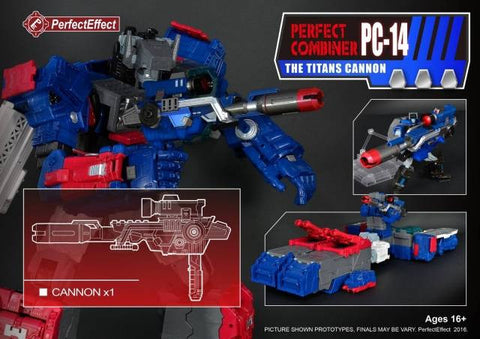 Perfect Effect - PC-14 Perfect Combiner Upgrade Cannon for Titans Return - Fortress Maximus