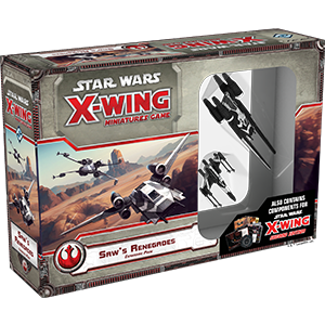 Fantasy Flight Games - X-Wing Miniatures Game Saw's Renegades Expansion Pack (With 2.0 Components)