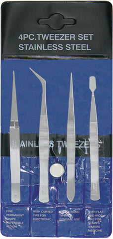 Exc30416 - Tweezer-pouch set (4pc)