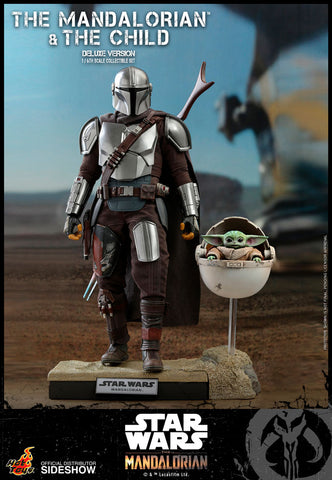 Hot Toys - Star Wars The Mandalorian - The Mandalorian and The Child Deluxe Set (Deposit Required)