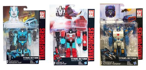 Transformers Generations Titans Return - Deluxe Wave 4 - Set of 3