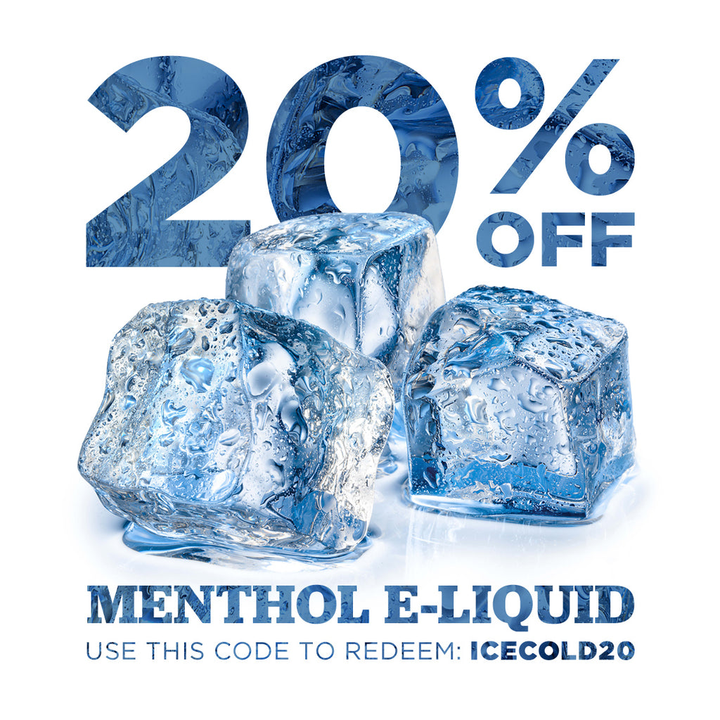 How cool is this?! 20% off menthol e-liquid