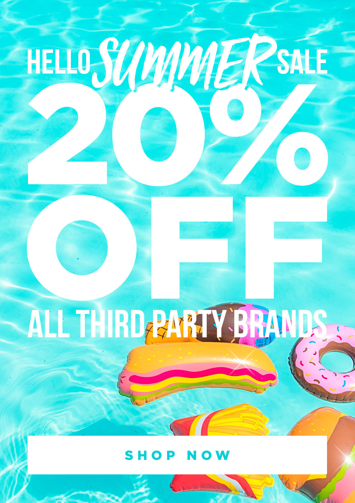 20% off all third-party brands: