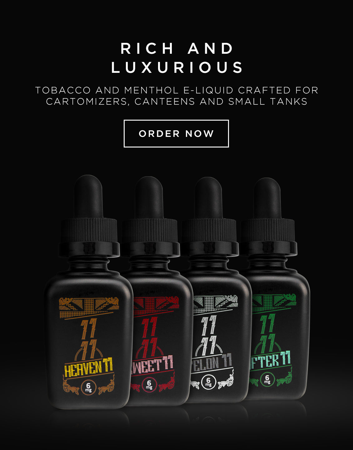 Rich and Luxurious Tobacco and Menthol E-liquid. Order now: