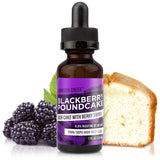 30mL bottle picture. Dessert vape. Smooth enough for an all day vape, but this blackberry e-Liquid can also serve as an after dinner treat.