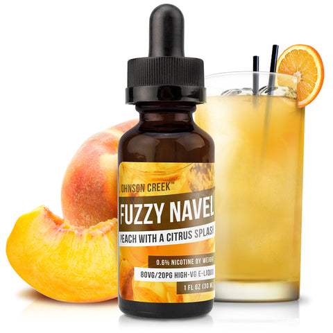 30mL bottle picture. High VG e-liquid. Inspired by the cocktail, this drink e-Liquid flavor is crafted with juicy peach and fresh orange flavor. Free shipping on orders over $75.