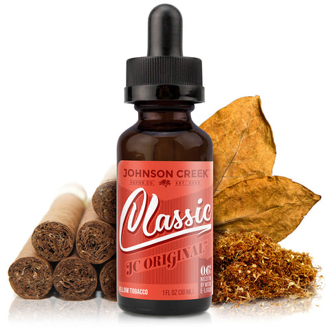 30mL bottle picture. This premium tobacco e-liquid is an all day vape with mellow but complex tobacco flavors.