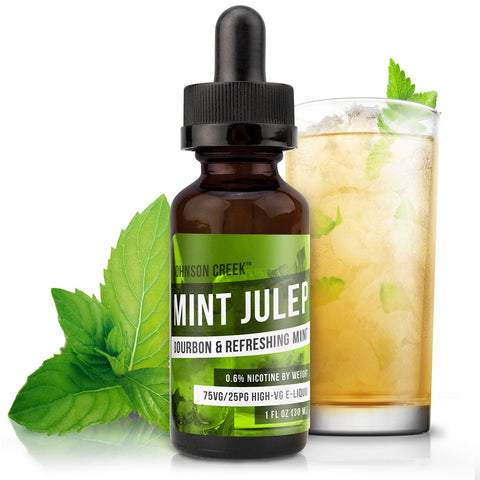 30mL bottle picture. High VG e-Liquid. Based upon the cocktail, this drink e-Liquid is a refreshing blend of bourbon and mint. Free shipping on orders over $75.