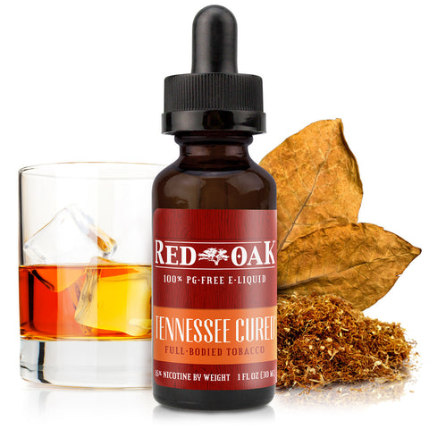 30mL bottle picture. PG-Free rich and smoky premium tobacco e-liquid. Burnt caramel, vanilla, and mesquite blended with tobacco flavors.