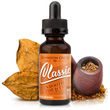 30mL bottle picture. Tobacco e-liquid. Light and sweet without without complex nuances to cloud the taste. A smooth, uncomplicated tobacco flavor.