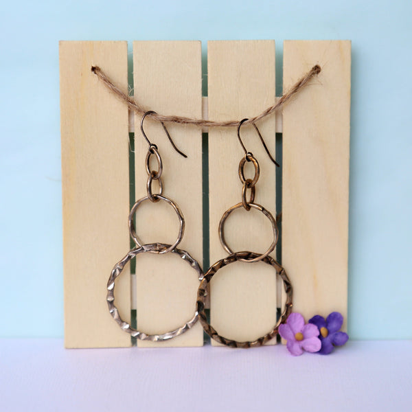 long textured hoop earrings