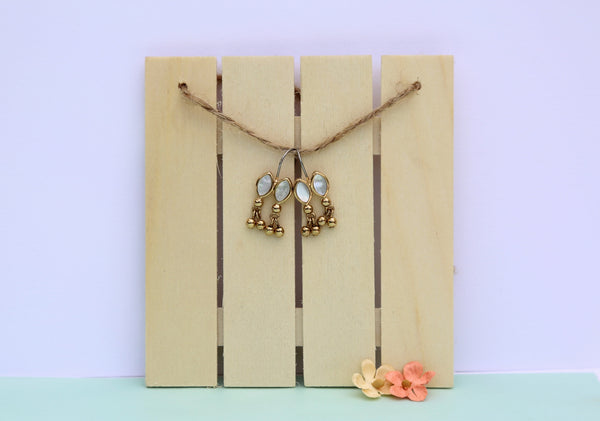 Twin Mother of Pearl Earrings