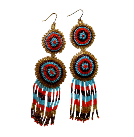 Rising Sun Long Statement Earrings