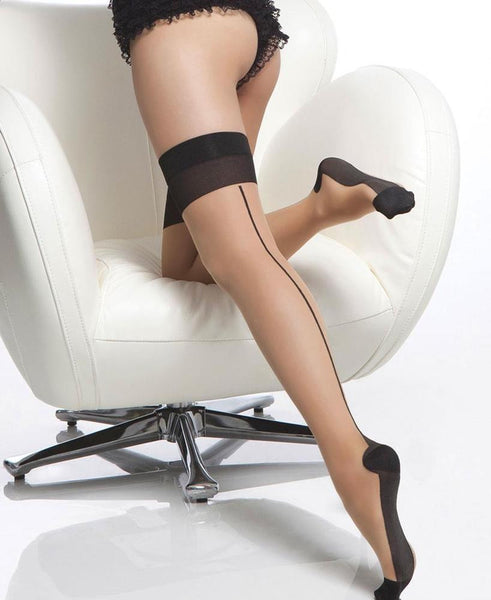 Coquette Nude w/ Black Seam Stockings - Heidi's Boutique
