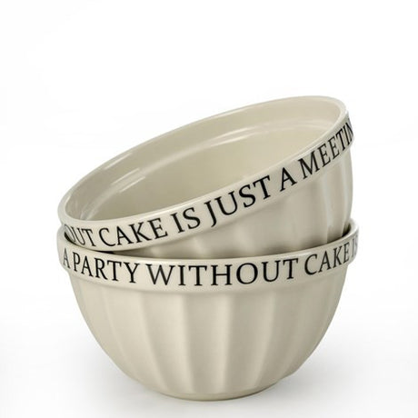 Embossed Bowl - A Party Without Cake...