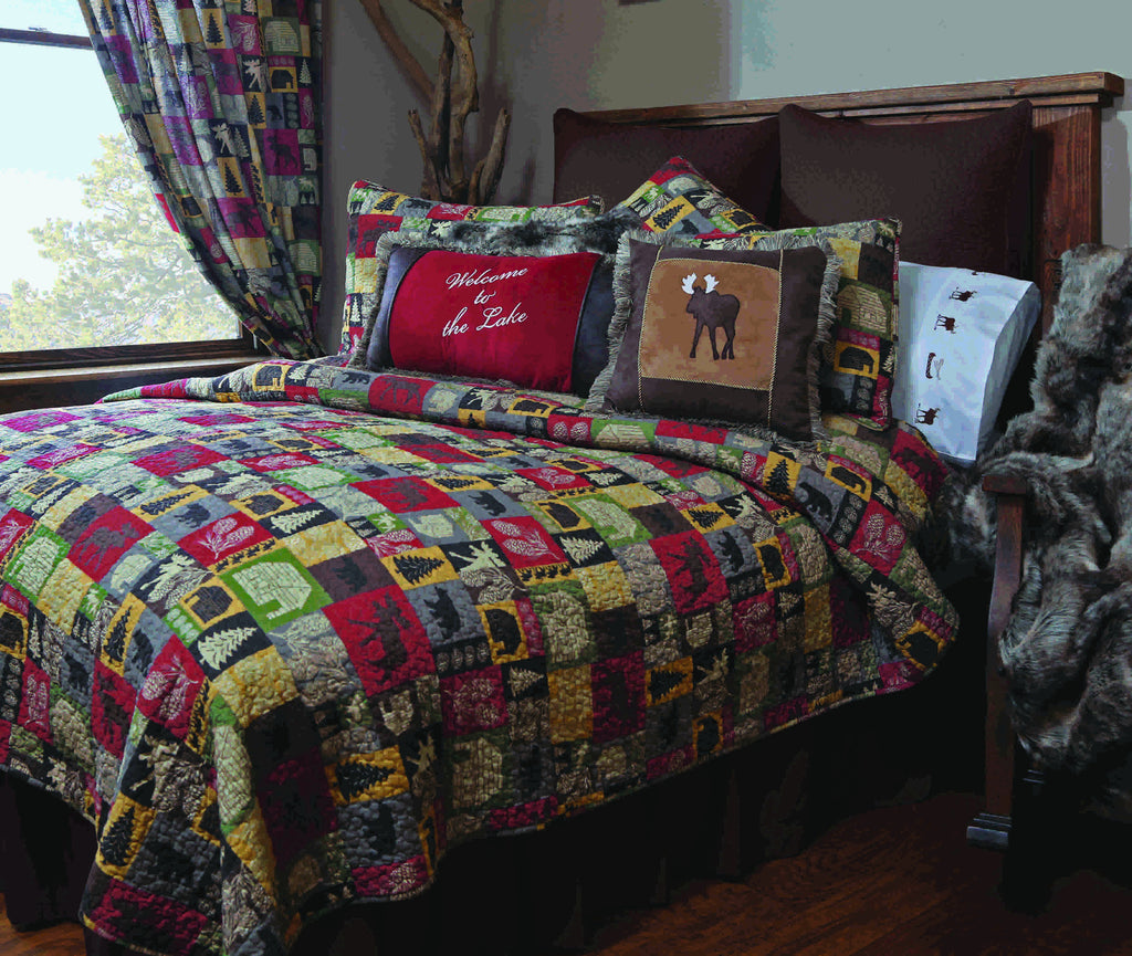 Cabin in the Woods Quilted Bedding