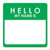Name Tag Coaster Pads (Set of 2)