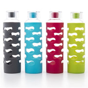 Glass Water Bottle with Silicone Sleeve (591 ml)
