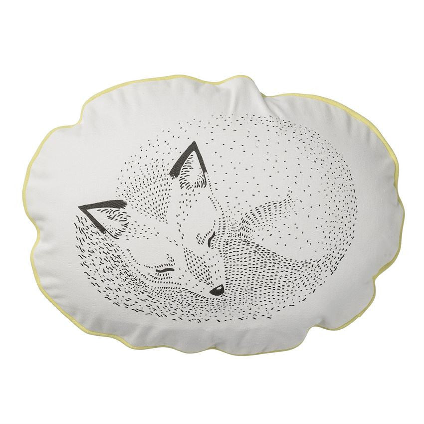 Sleeping Fox Pillow - Lemon