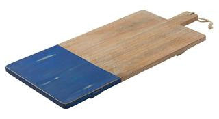Blue Wash Coast Mango Wood Serving Board