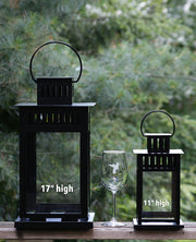Etched Glass Lantern (43 cm)