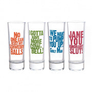 SNL Famous Quotes Shot Glass Set
