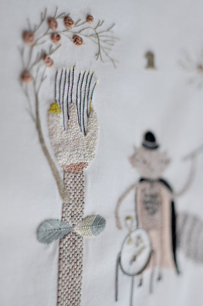 MIGA DE PAN Embroidery workshop by Adriana Torres/Mathemagician 10/22