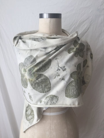 Smoke Bush Scarf: Eco-Print Scarf