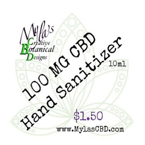 Myla's Creative Botanical Designs CBD Infused Hand Sanitizer (Travel Size)