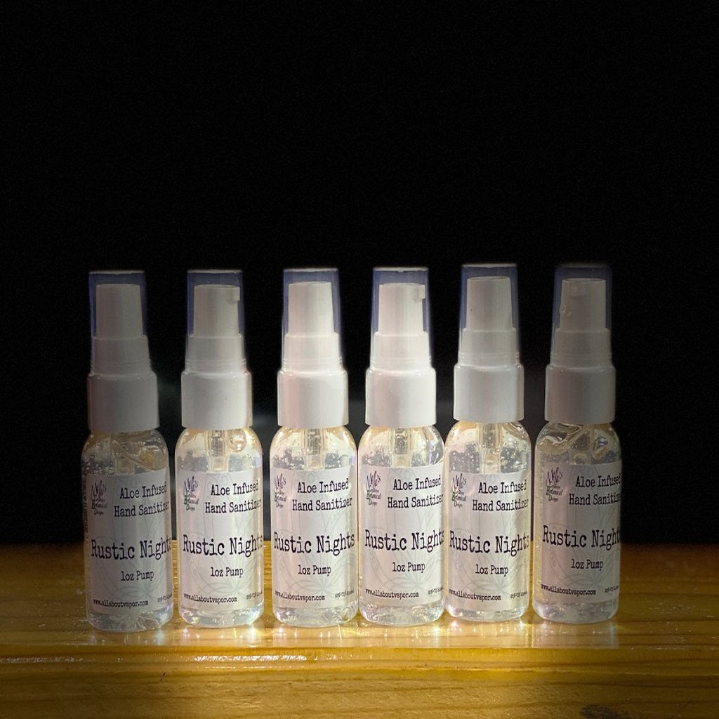 Aloe Infused Rustic Nights Hand Sanitizer - 1oz Pump